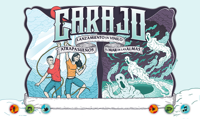 """CARAJO EN VINILO """"ATRAPASUEÑOS""""  Y """"EL MAR DE LAS ALMAS"""""""